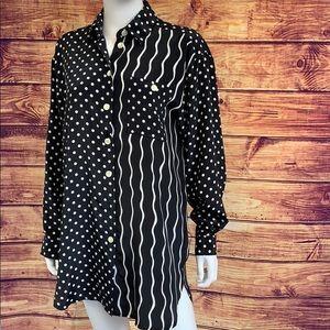 Vintage 80's TanJay Printed Black Shirt